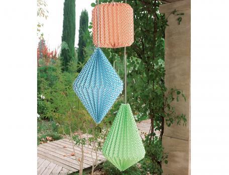 Lampion décoratif en papier Balade à vélo