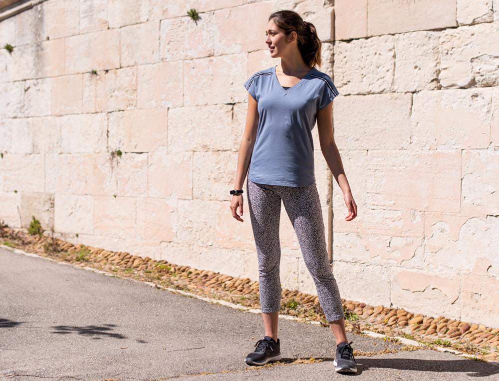 Leggings Bedrucktes Molton In Bewegung