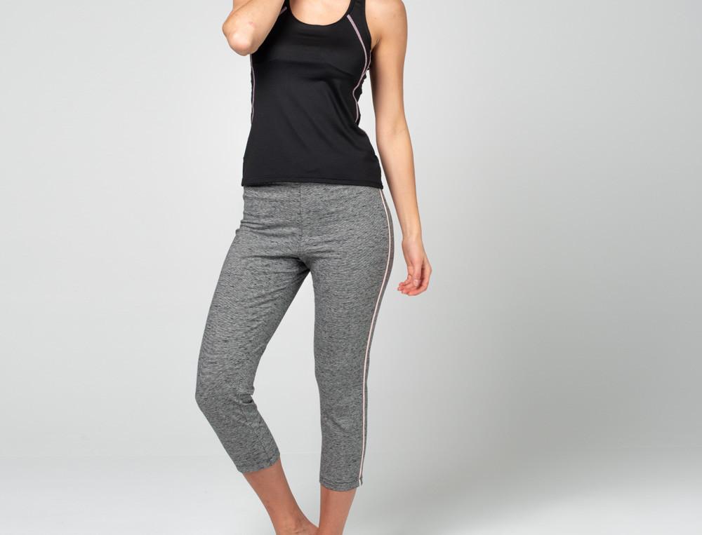 Leggings in ¾-Länge grau meliert