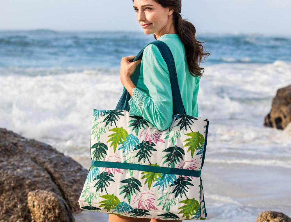 Liegematte Tahiti Blättermotiv Linvosges