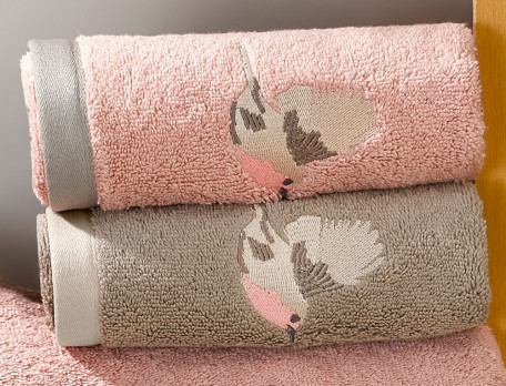 Linge de bain 600g/m2 brodé À vol d'oiseaux