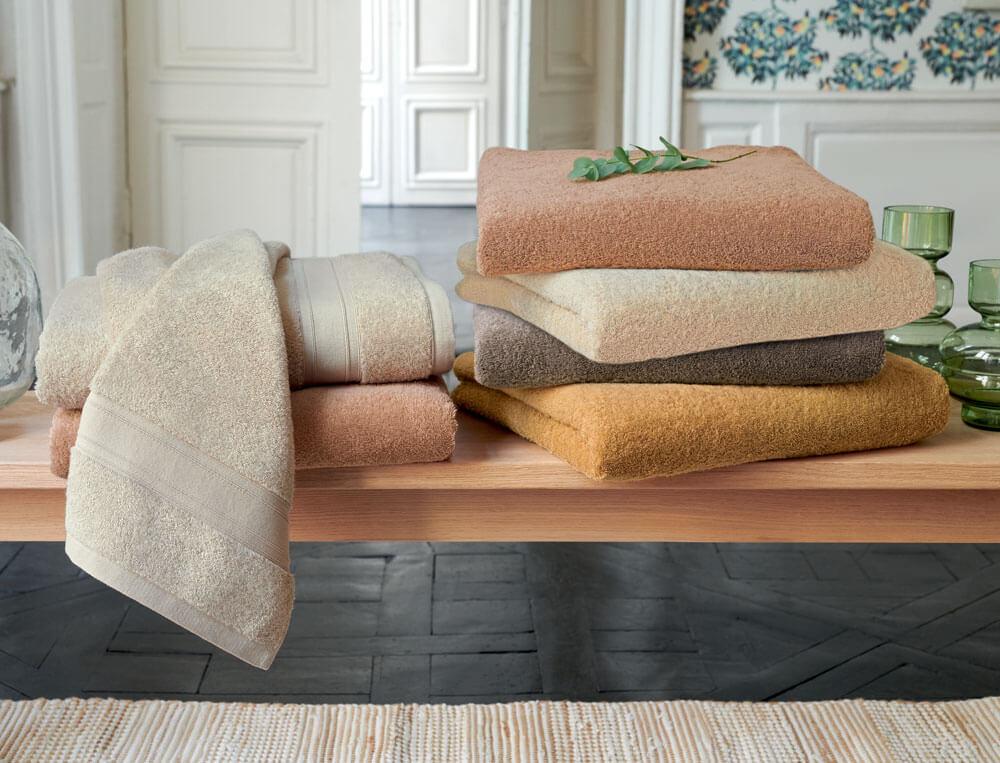 Linge de bain 100% biologique coton peigné 600g/m2 Essentielle