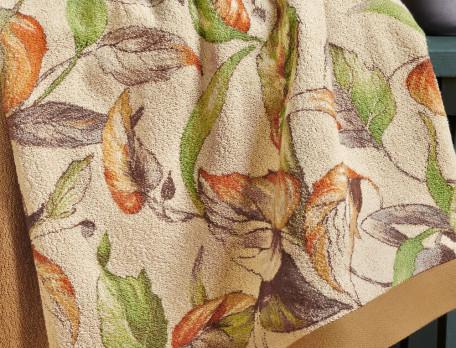 Linge de bain imprimé et tissé teint Forêt de Marly