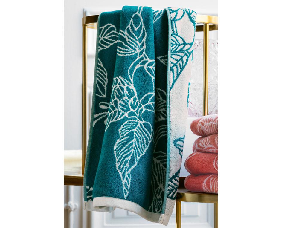 Linge de bain jacquard 100% coton Bouquet d'émotions