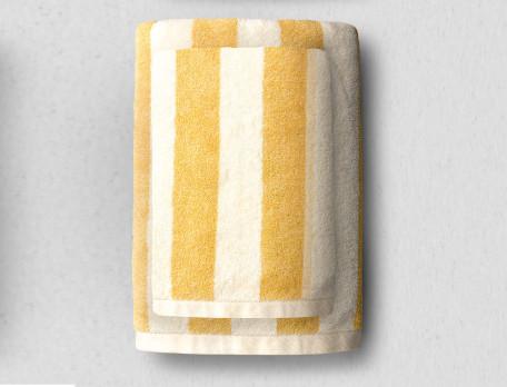 Linge de bain rayé 100% coton bio, 550g/m2 Bande à part