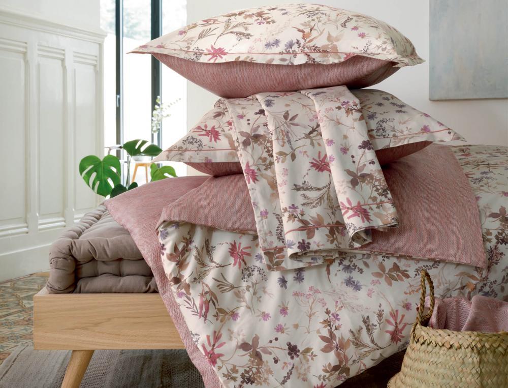 Linge de lit satin 100% coton Au jardin des plantes