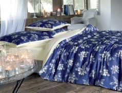 Linge de lit 100% coton Bleu de minuit