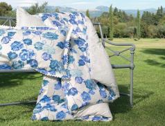 Linge de lit Bleus des champs motif floral
