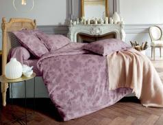 Linge de lit imprimé fleuri Bois de rose