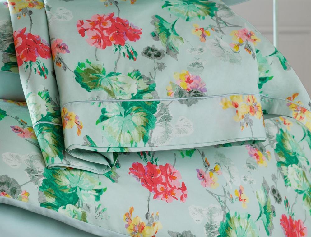 Linge de lit en percale Bouquet de lumière
