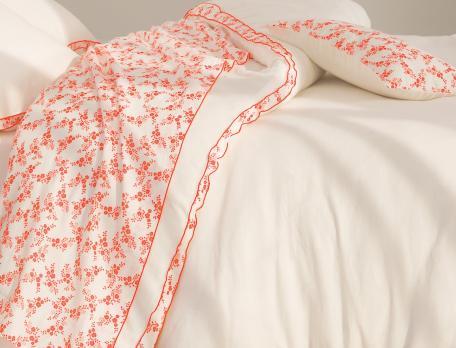 Linge de lit métis lavé blanc Clémentines