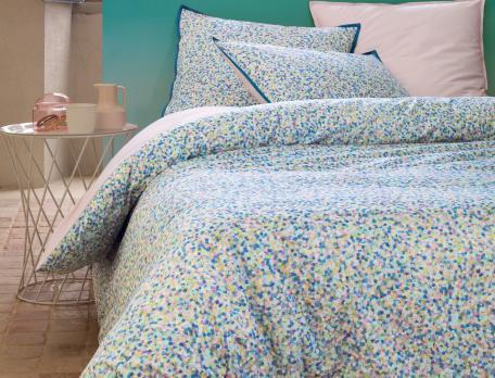 Taie d'oreiller carrée et rectangulaire confettis