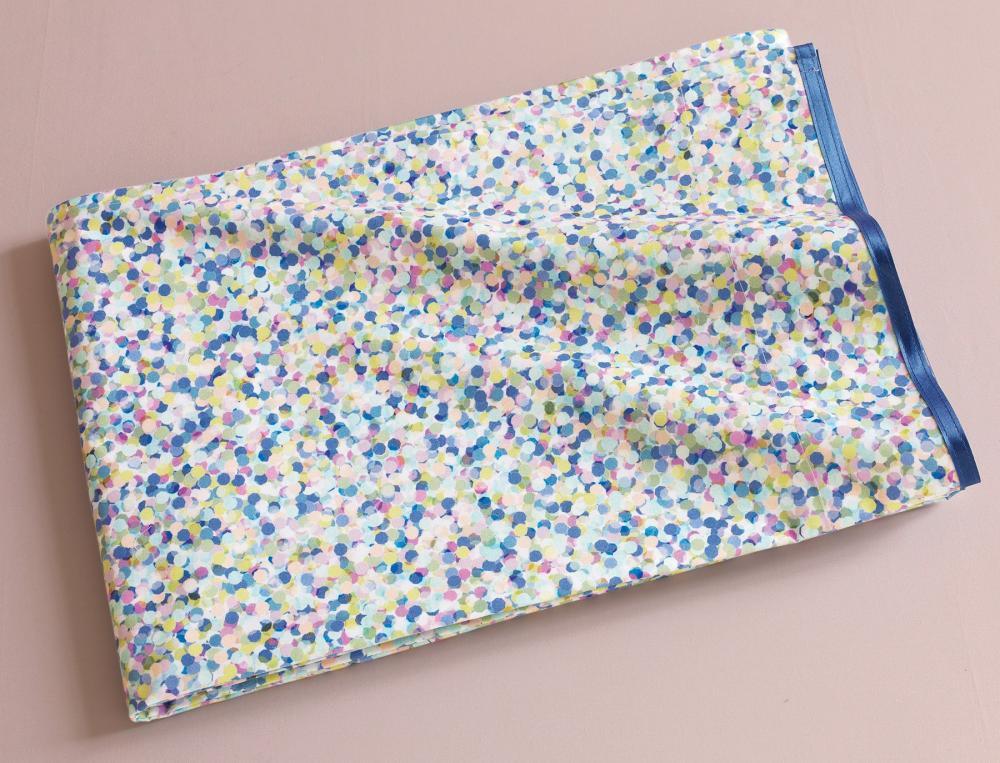 Drap housse confettis linvosges for Drap housse lit rond