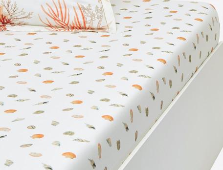 Linge de lit imprimé Coquillages