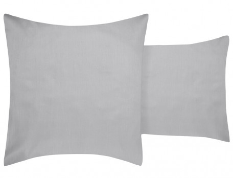 Linge de lit satin imprimé et uni gris Couleurs Boréales