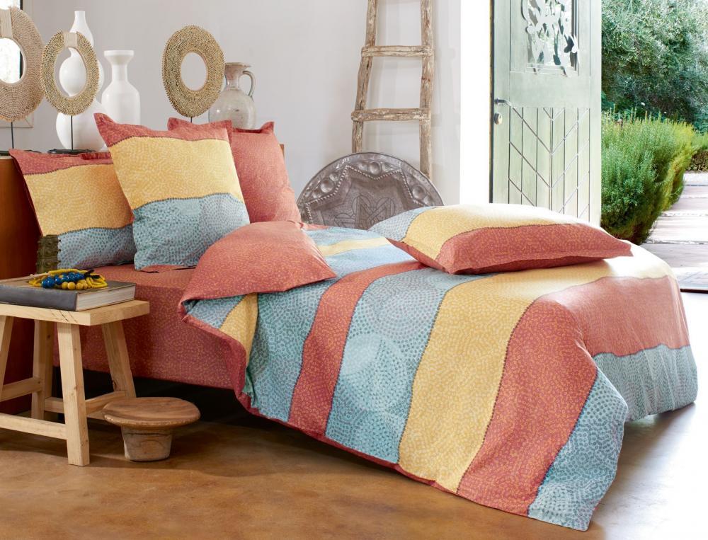 Linge de lit imprimé Couleurs Sahara