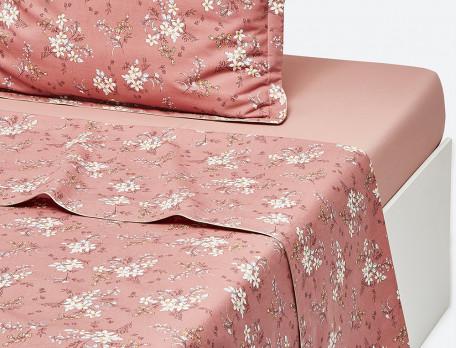 Linge de lit imprimé Douceur cuivrée