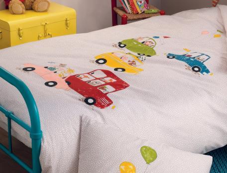 Parure de lit enfant imprimé 100% coton C'est les vacances