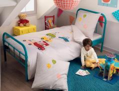 Linge de lit enfant imprimé 100% coton C'est les vacances