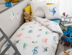 Linge de lit enfant imprimé Château fort