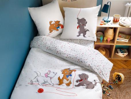 Linge de lit enfant imprimé Les Aristochats