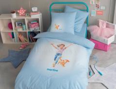 Linge de lit imprimé 100% coton enfant Martine