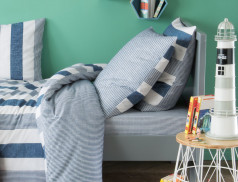 Linge de lit enfant imprimé 100% coton Matelot