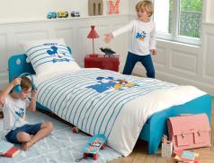 Linge de lit enfant imprimé 100% coton Mickey