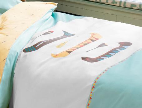 Parure de lit enfant 100% coton Petit indien