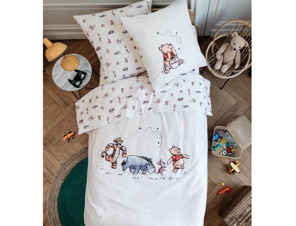 Linge de lit enfant 100% coton Winnie