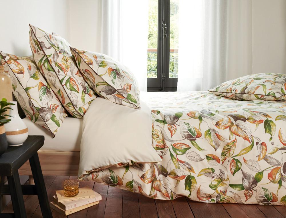 Parure de lit percale imprimé Forêt de Marly