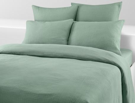 Linge de lit uni Gaze de coton lavé 76 fils/cm2