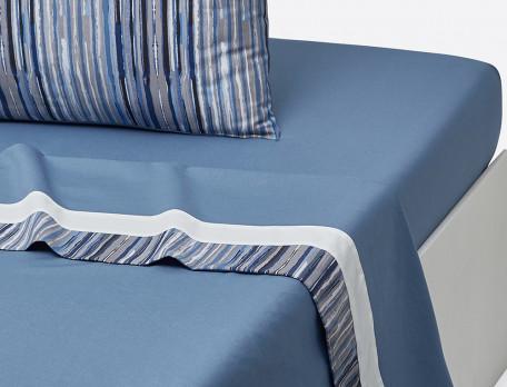 Linge de lit imprimé Infiniment bleu