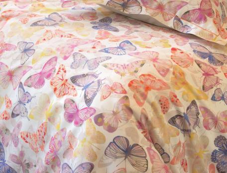 Linge de lit satin La serre aux papillons