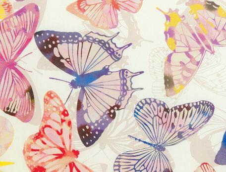 Drap imprimé 1 ou 2 personnes La serre aux papillons