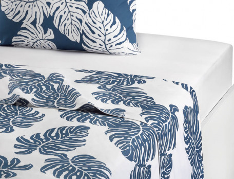 Linge de lit percale coton imprimé Les alizés