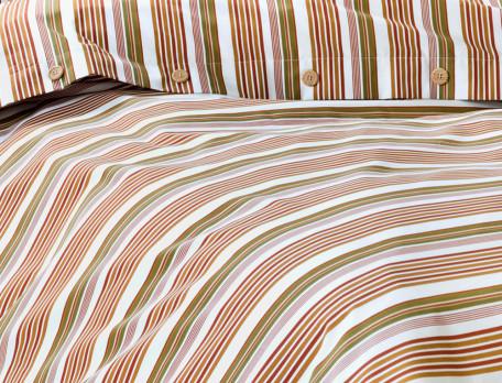 Linge de lit percale imprimé Ligne à ligne