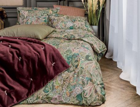 Parure de lit imprimé cachemire multicolore percale coton Maharani