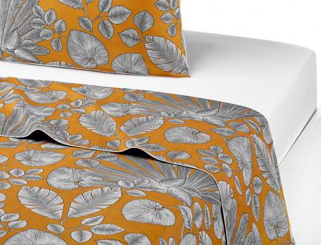 Linge de lit Nuit imprimée végétal percale 100% coton Nuit à Saly