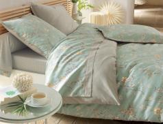 Linge de lit satin Nuit de Jade