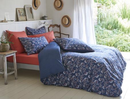 Linge de lit imprimé Orange bleue