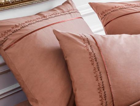 Linge de lit percale brodé Palais des sables