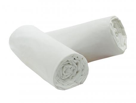 Lot 2 draps-housse Percale 100% coton