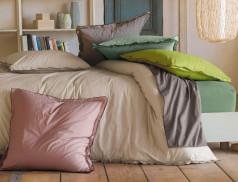 Linge de lit Percale lavée souple et froissé