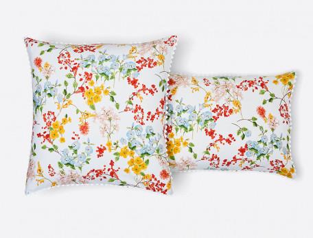 Linge de lit imprimé percale Saveurs de fleurs