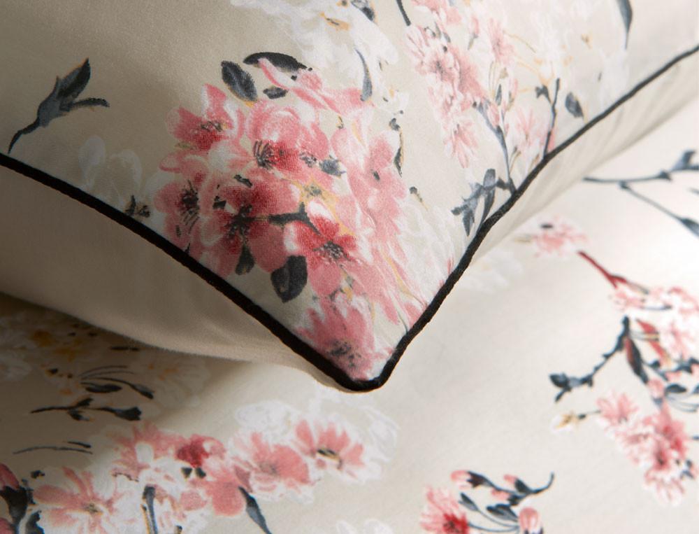 Linge de lit satin Pommier du Japon
