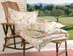 Linge de lit imprimé floral Rosée du matin