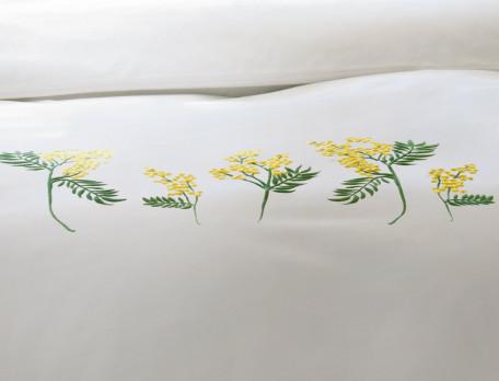 Linge de lit brodé Villa mimosa