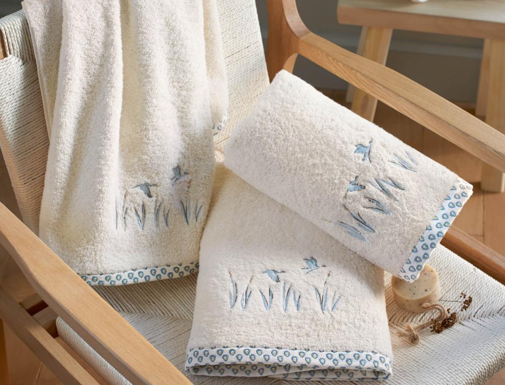 Linge de bain brodé Bocages