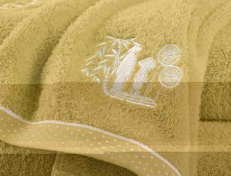 Linge de bain brodé Ombres chinoises